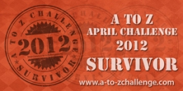 A to Z Survivor Badge 2012