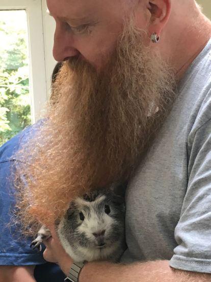 Bertie with Bob's beard