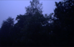 Night storm thunder lightning wind rain